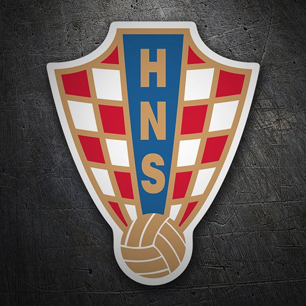 Car & Motorbike Stickers: Croatia - Football Shield