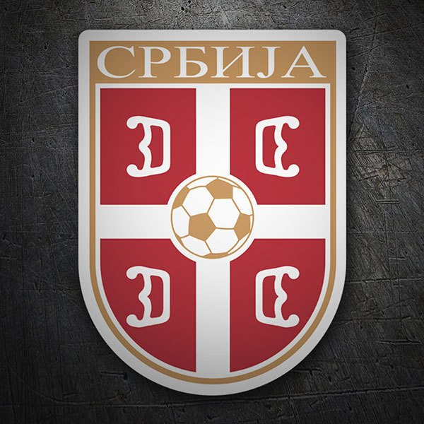 Car & Motorbike Stickers: Serbia -  Football Shield