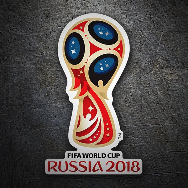 Car & Motorbike Stickers: World football logo Russia 2018