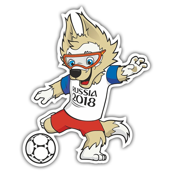 Car & Motorbike Stickers: Zabivaka with the ball