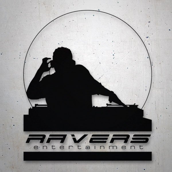 Car and Motorbike Stickers: Ravers