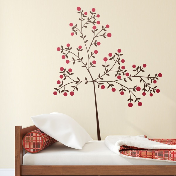 Wall Stickers: Tree branch and its fruits
