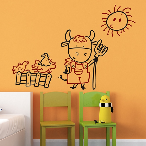 Stickers for Kids: Multicolour Farmer