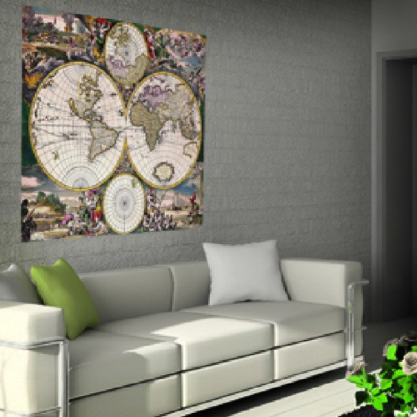 Wall Stickers: Ancient world map