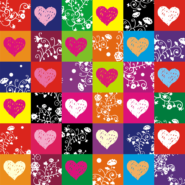 Wall Stickers: colorful hearts 0