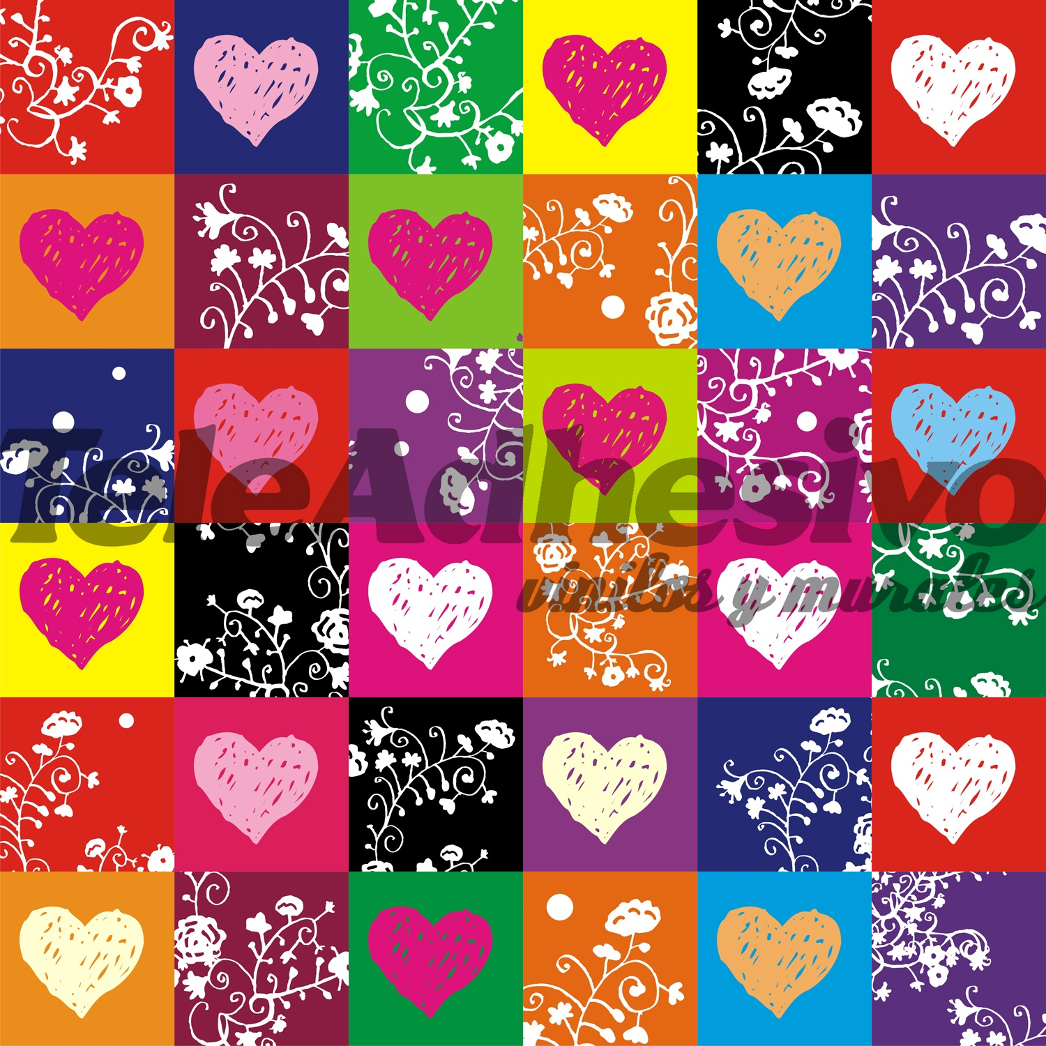 Wall Stickers: colorful hearts