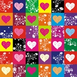 Wall Stickers: colorful hearts 3