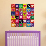 Wall Stickers: colorful hearts 4
