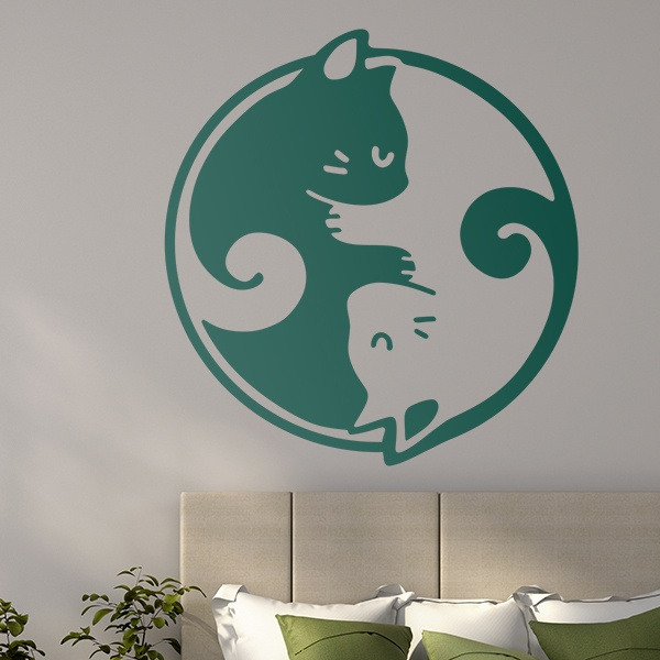 Wall Stickers: Ying Yang of cats