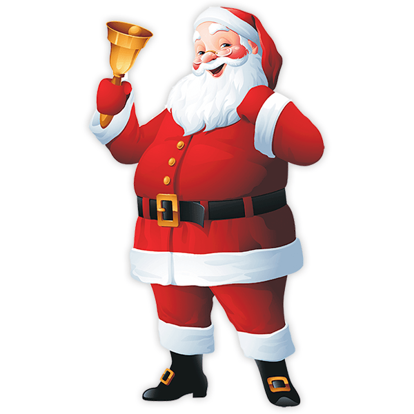 Wall Stickers: Santa Claus with his bell