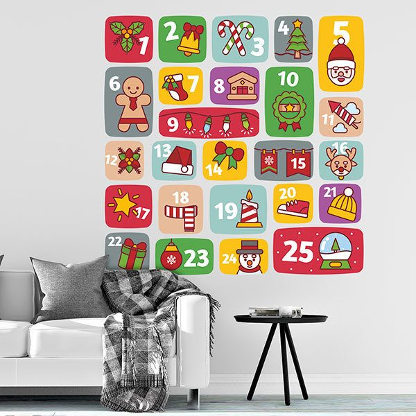 wall sticker kid's advent calendar | muraldecal
