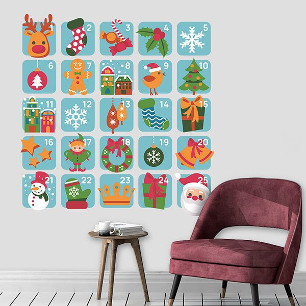 Wall Stickers: Advent Calendar 1