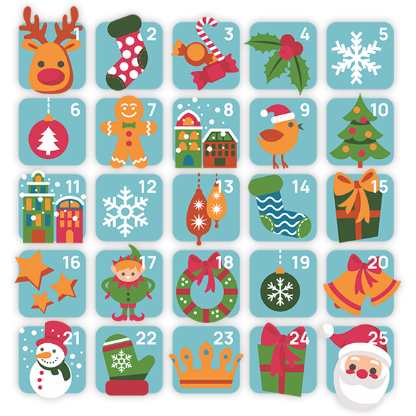 Wall Stickers: Advent Calendar 0