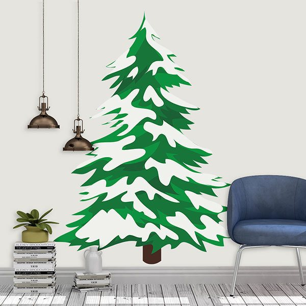 Wall Stickers: Snowy spruce 1