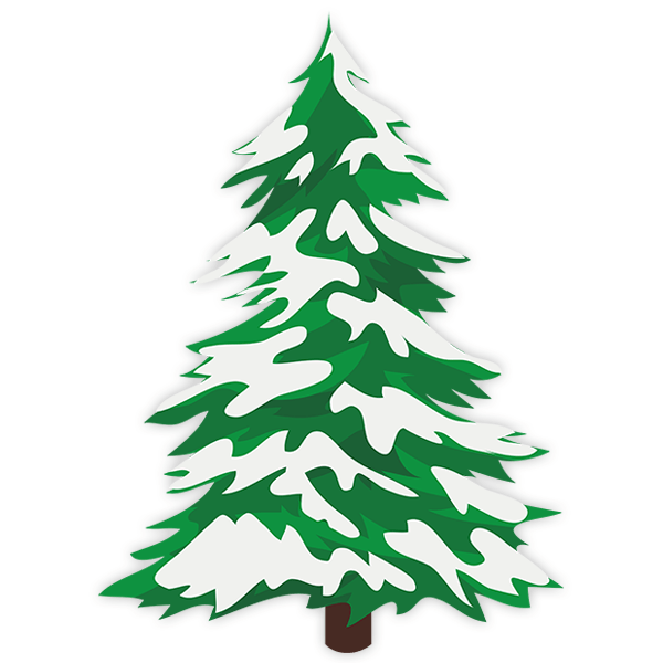 Wall Stickers: Snowy spruce 0