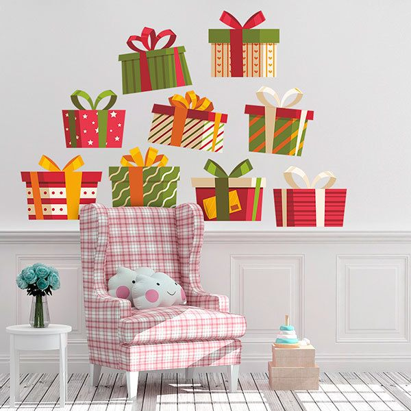 Wall Stickers: Christmas gift kit