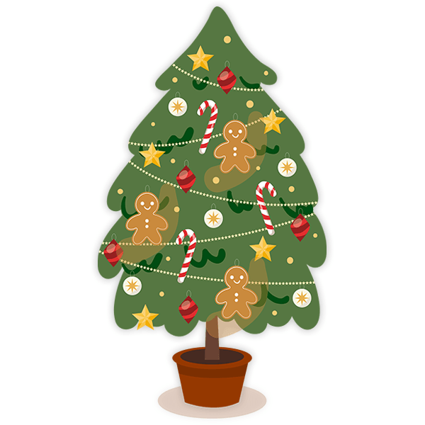 Wall Stickers: Decorated Christmas Tree
