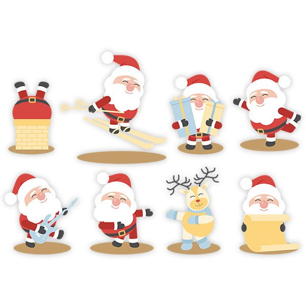 Wall Stickers: Santa Claus Kit