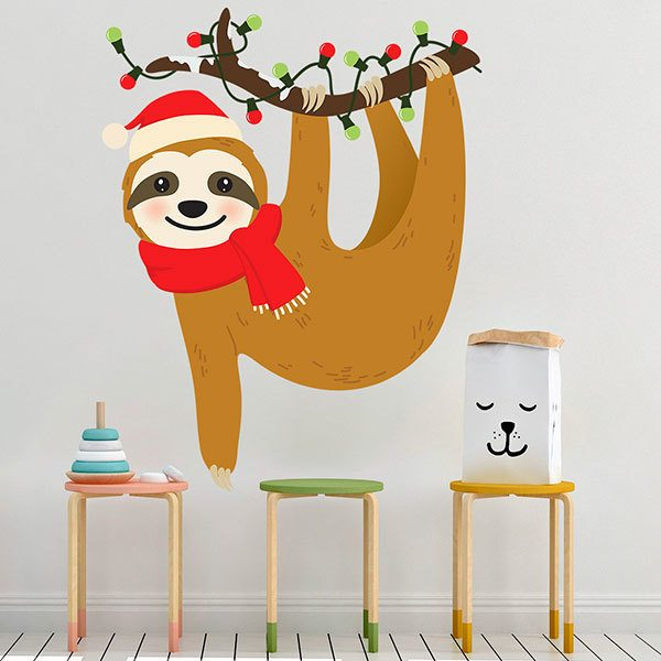 Wall Stickers: Christmas Sloth 1