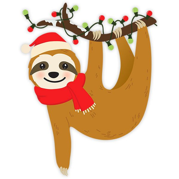 Wall Stickers: Christmas Sloth