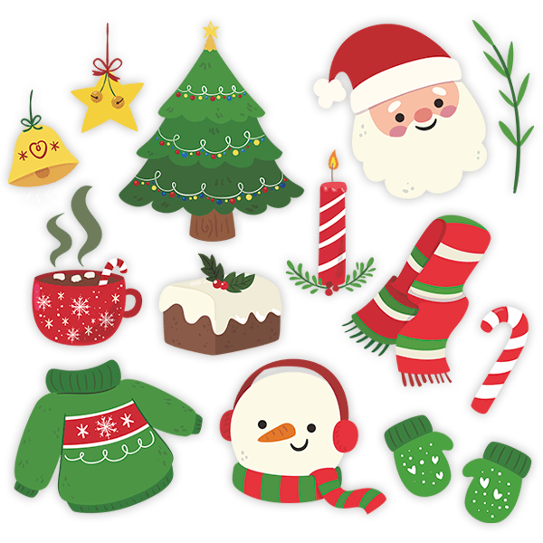 Wall Stickers: Christmas Decoration Kit