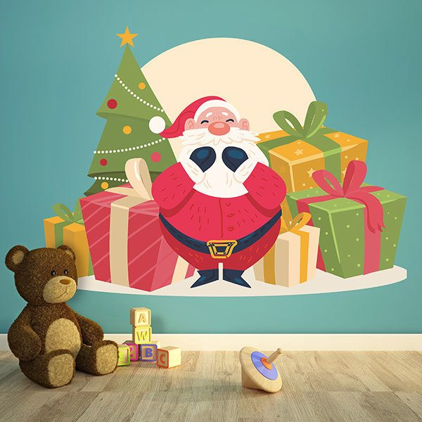 Wall Stickers: Santa Claus with gifts
