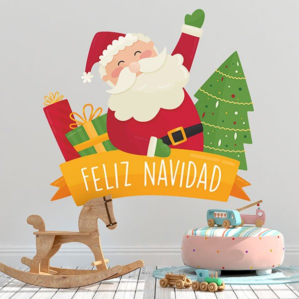 Wall Stickers: Merry Christmas, in Spanish