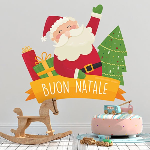 Merry Christmas In Italian.Kids Wall Sticker Merry Christmas In Italian Muraldecal Com