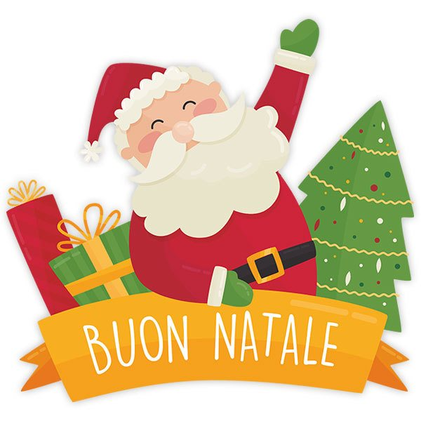 Wall Stickers: Merry Christmas, in Italian