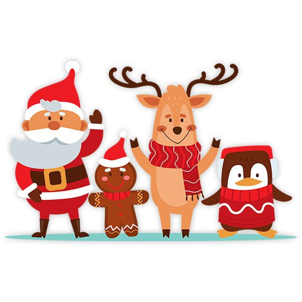 Wall Stickers: Santa Claus and his friends