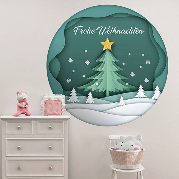 Wall Stickers: Christmas sphere, in german 1