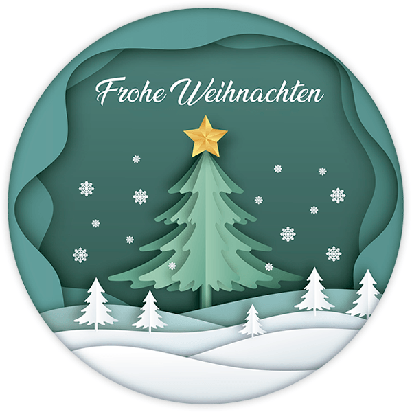Wall Stickers: Christmas sphere, in german 0
