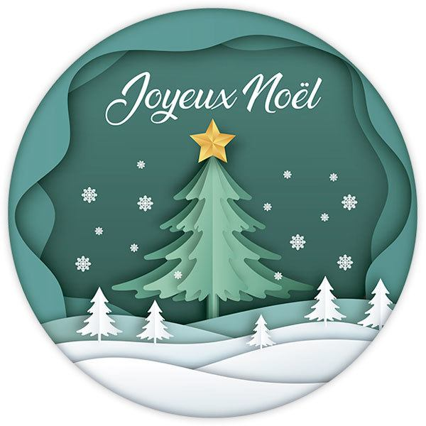 Wall Stickers: Christmas sphere, in french