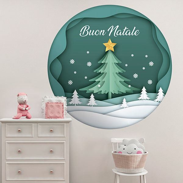 Wall Stickers: Christmas sphere, in italian