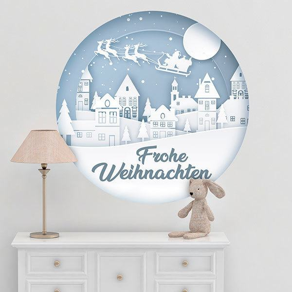 Wall Stickers: White Christmas, in german