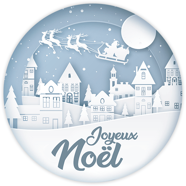 Wall Stickers: White Christmas, in french