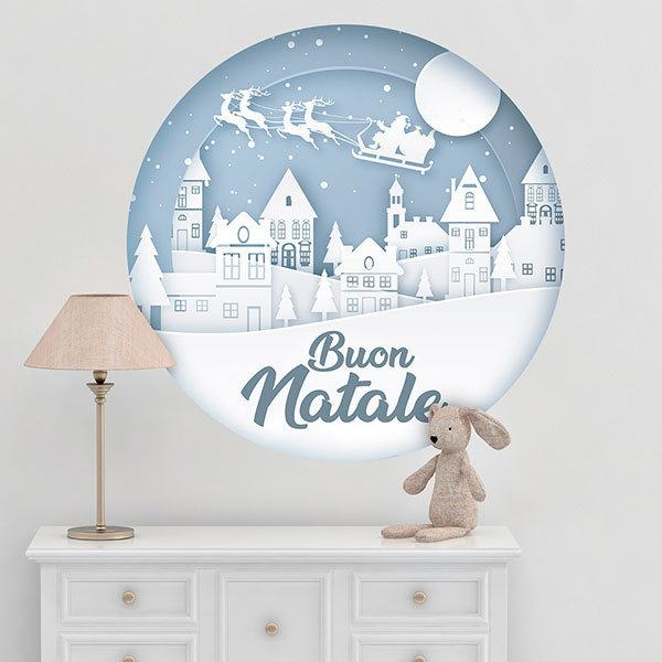 Wall Stickers: White Christmas, in italian