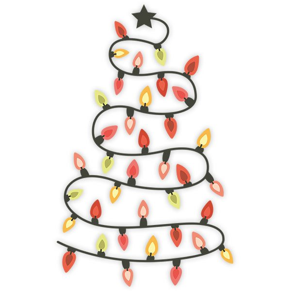 Wall Stickers: Christmas lights