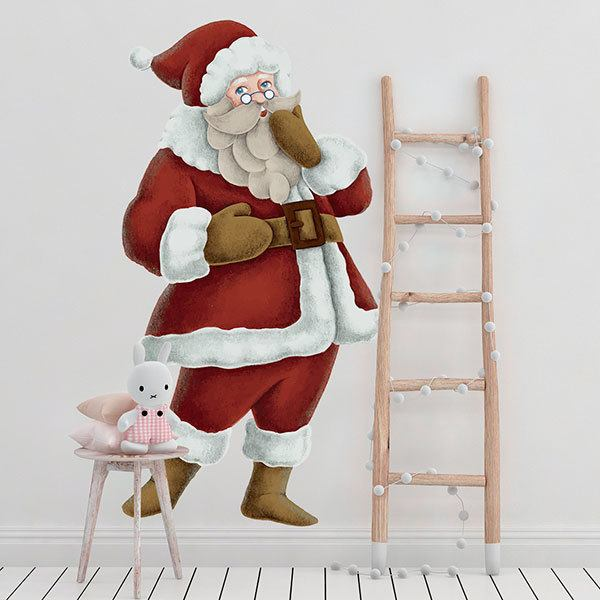 Wall Stickers: Santa singing