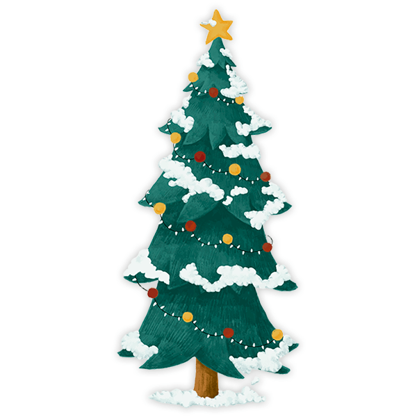 Wall Stickers: Snowy Christmas Spruce