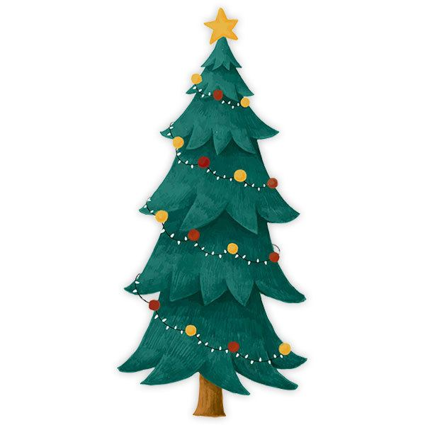 Wall Stickers: Classic Christmas spruce
