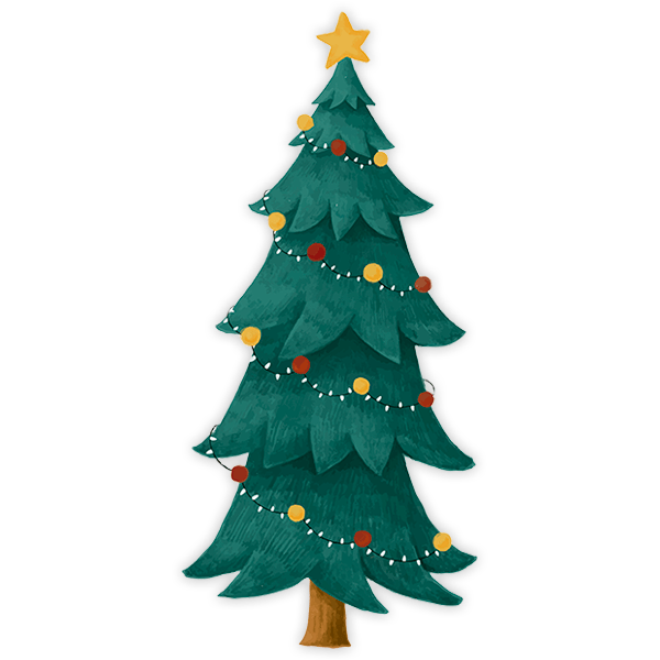 Wall Stickers: Classic Christmas spruce 0