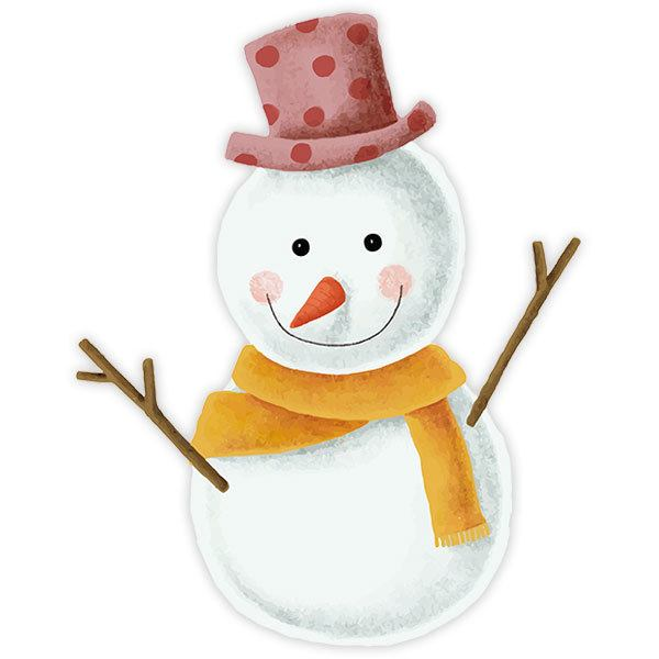 Wall Stickers: Happy Snowman