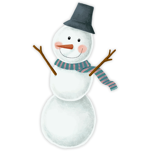 Wall Stickers: Snowman smiling