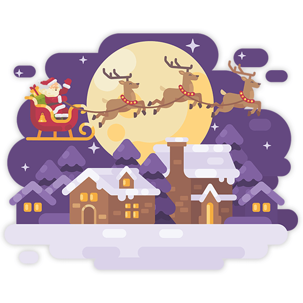 Wall Stickers: Santa Claus and his sleigh