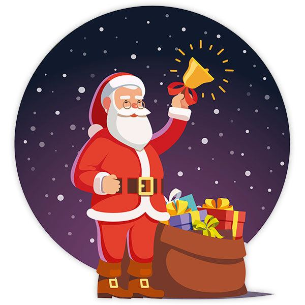 Wall Stickers: Santa brings Christmas