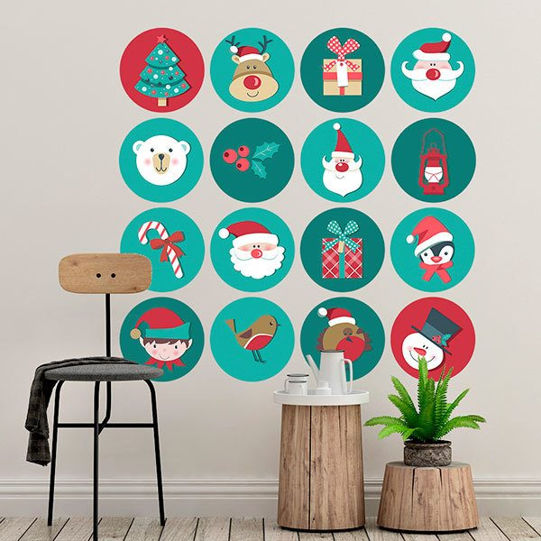 Wall Stickers: Christmas icons kit