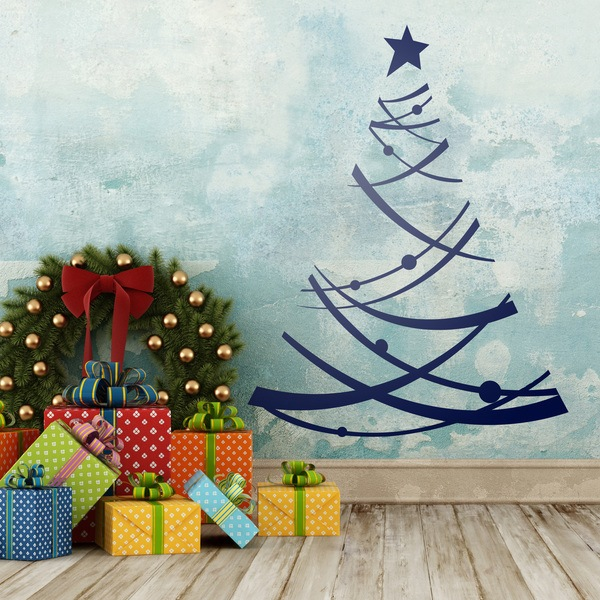 Wall Stickers: Modern Christmas tree