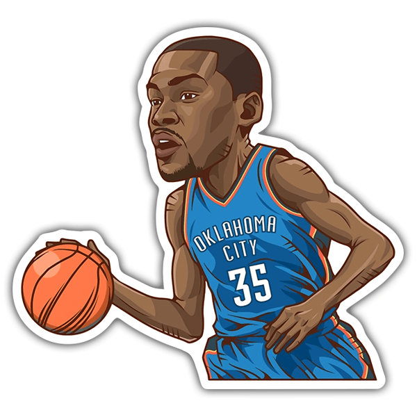 Car & Motorbike Stickers: NBA - Kevin Durant 0