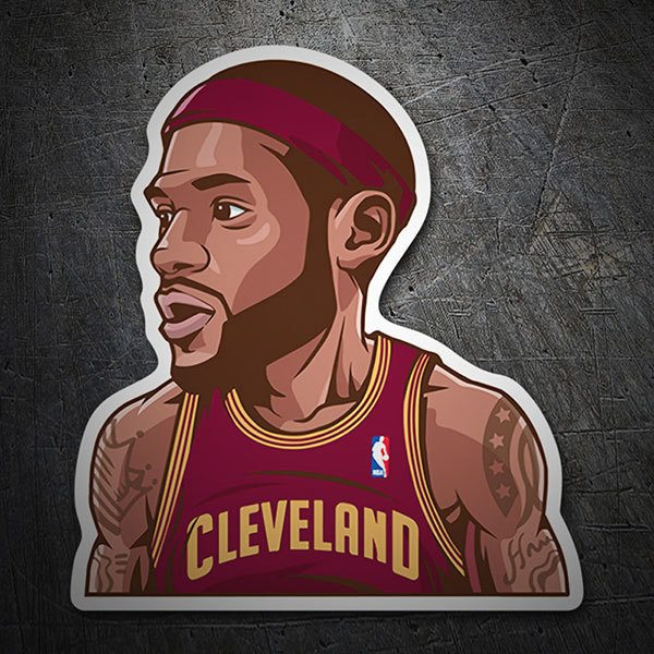 Car & Motorbike Stickers: NBA - Lebron James 1